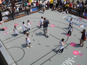 Adonal-Foyle-On-Basketball-Court-Teaching-Kids-NBA-Nation-Event